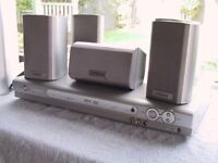 """Hitach""""NOW SOLD"""". surround sound system 5 x speakers and sub woofer"""