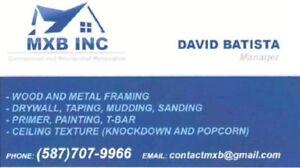 Tape-Drywall***Repair***Renovation *** MXB INC