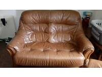 Leather sofa &harmchairs for sale