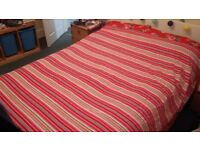 Colourful kitsch striped large throw/hanging/blanket bright cotton never used