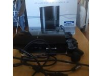 PS3 80gb with 2 controllers and cables