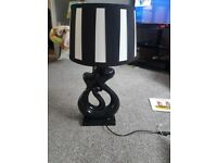 Black and white lamp good quality