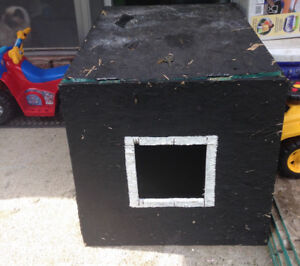 Outdoor dog or cat house/shelter.