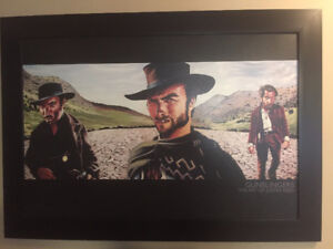The Good The Bad and The Ugly Framed Painting
