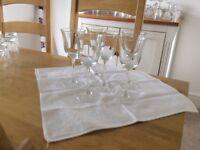 1/2 doz. long stemmed wine glasses £5