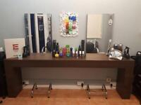 R.E.M. Two position hair styling station