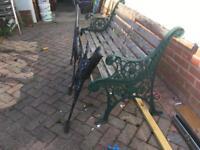 Garden bench ends x 2