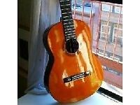 YAMAHA CG 100A CLASSICAL GUITAR (FULL SIZE) WITH HARD CASE AND FOOT REST