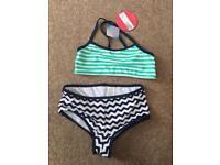 Girls M & S tankini / bikini age 10-11 BNWT