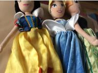 Three Disney soft dolls