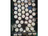 Job lot - New Halfords car spray paint x100