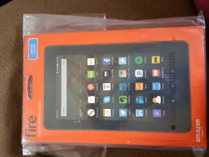New, Amazon Fire tablet