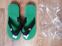 Brand new in foil flip flops size UK 8