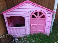 Pink playhouse house