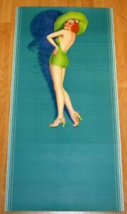 BILLY DEVORSS 40S ART DECO HATTED PIN-UP BEAUTY POSTER