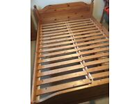 Ikea Standard size Pine Double Bed frame