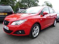 SEAT IBIZA 1.2 TSI SE DSG 5d AUTO 103 BHP (red) 2010