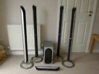 LG Surround Sound Speakers with centre speaker and subwoofer