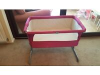 Chicco Next 2 Me Bedside Crib - Raspberry -Used but in great condition.