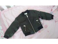 River island baby girls bomber jacket 9-12 months