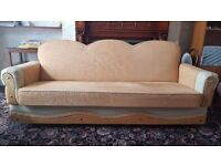 SOFA BED. 3 seater good condition. 2 sofas. BURY
