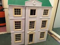 LARGE WOODEN 3 STORY DOLL HOUSE