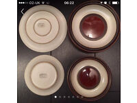 DENBY DINNER PLATES STONEWARE TWO DIFFERENT SIZES TO CHOOSE FROM BROWN CREAM