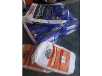 Tile adhesive x5 grout x2