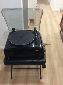 Ion pro turntable & sherwood amplifier