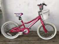 """Girls Gary Fisher 16"""" 'Gamma Ray' bike."""