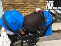 Joie double pushchair with car seat