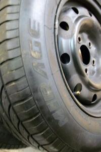 4 All Seasons Tires 215 70 15 on Steel Rims 5 x 114.3mm