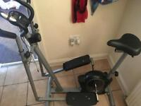 Pro fitness cross trainer & bike in one.
