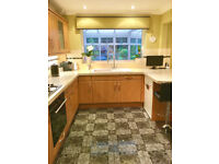 Complete kitchen units in very good condition with integrated appliances.