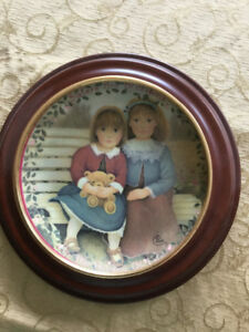 Sisters Collector Plate with frame.