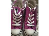 Pink Glitter Converse Size 2(35) worn once