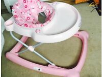 Excellent condition pink Baby walker