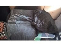 3 black double bed sheets