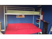 High rise single bed, with pull out double bed/sofa