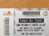 V Festival Ticket No Camping Sunday 20th August 2017
