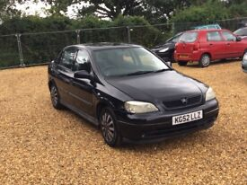 2002 Vauxhall Astra Black 1.6 LS 5 Months MOT Cheap Car
