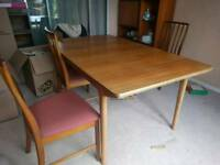 G Plan wooden table and 6 chairs - Uxbridge