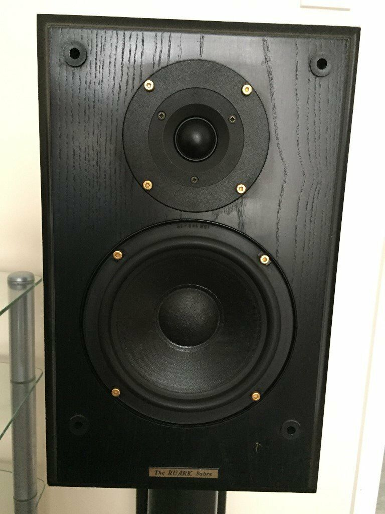 Ruark Sabre Speakers Stereo Pair HiFi Audio Music Player Bookshelf Standmount Loudspeaker BI Wire