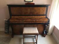 Ibach upright piano and Barley Twist piano stool