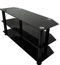Tv stand with silver legs