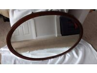 Large Antique Oval Mirror 1920-30's
