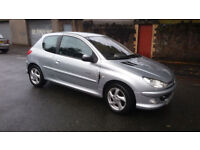 2005(05)PEUGEOT 206 1.6 QUIKSILVER MET SILVER,GOOD RUNNER,16/11/2017 MOT,CHEAP!!