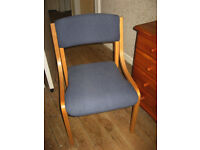 Wood and Fabric Office Chair