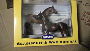 Horses by BREYER, SEABISCUIT and WAR ADMIRAL, mint