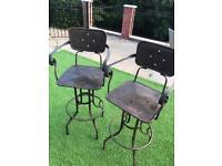 Pair of Vintage Style CoachHouse Bar stools
